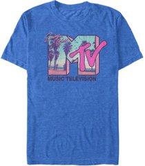 mtv men's spring break sunset logo short sleeve t-shirt
