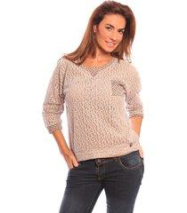 sweater camel valdivia combinado tu