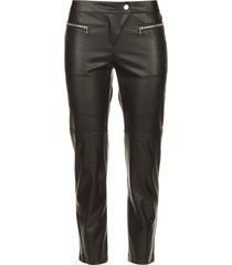 faux leather broek misty  zwart