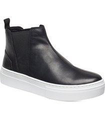 zoe platform shoes chelsea boots svart vagabond