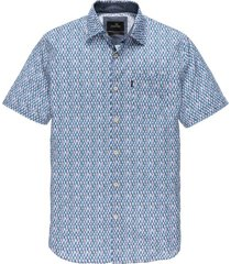 korte mouwen overhemd vanguard blauwe print