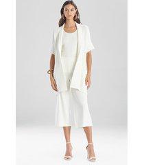 natori beijing textured knit cardigan top, women's, cotton, size xl