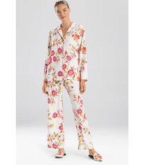 natori seville pajamas, women's, beige, size l natori