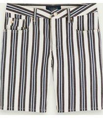 scotch & soda ralston short - stripe out   mid rise slim fit