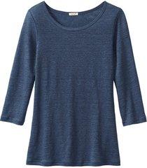 shirt met ronde hals, indigoblauw 36/38