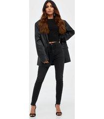 gina tricot molly high waist jeans skinny svart