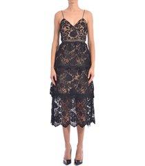 self-portrait lace dress black