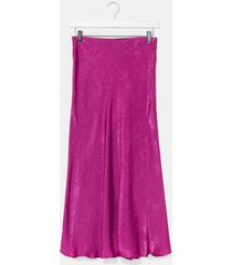 womens touch by touch satin midi skirt - berry