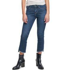 silver jeans co. fleet step-hem kick-cropped jeans