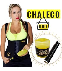 chaleco dama broche slim shapper reduce medidas