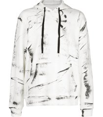 haculla hand painted hoodie - white