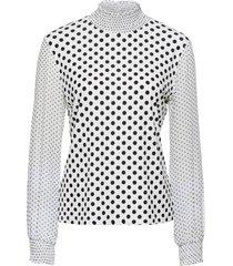 maglia con maniche in chiffon (bianco) - bodyflirt