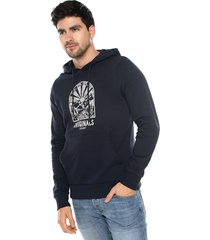 buzo azul navy jack & jones