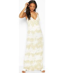 maternity tie dye maxi dress, green