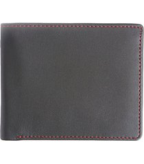 rfid-blocking leather bi-fold wallet