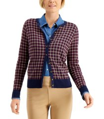 charter club plaid cardigan, created for macy's