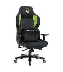 cadeira gamer reclinável magna terra elements gaming c/ almofada lombar