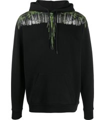 marcelo burlon county of milan wood wings print hoodie - black
