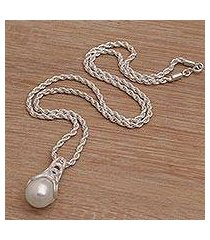 cultured pearl pendant necklace, 'nurture' (indonesia)