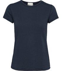 16 the modal tee t-shirts & tops short-sleeved blå denim hunter