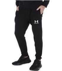 calça de moletom under armour terry jogger - masculina - preto