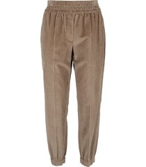 brunello cucinelli curved trousers in cotton corduroy