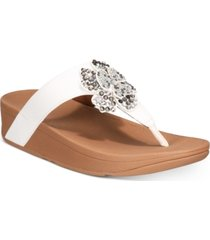 fitflop lottie corsage thong sandals women's shoes
