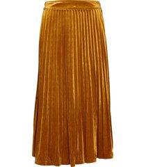 clara velvet skirt knälång kjol orange just female