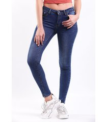 jean skinny desgaste medio push up