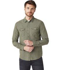 overhemd lange mouw wrangler chemise deux poches