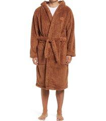 men's ugg beckett plush robe, size medium/large - brown