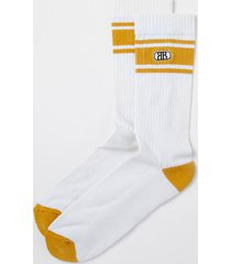 river island mens yellow rr stripe socks