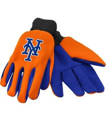 mlb fan sport utility work gloves (new york mets orange/blue)