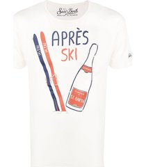 après ski white t-shirt