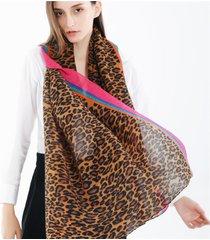 sciarpa calda antivento casuale all'aperto del cotone a strisce e della sciarpa a pieghe del modello del leopardo delle donne