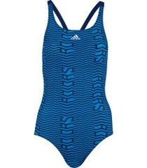 maiô para natação adidas sh3.ro linage s - adulto - azul/azul esc