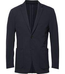 solid jersey casual blazer blazer colbert blauw calvin klein