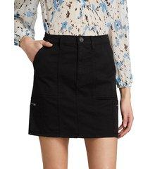 joie women's park skinny skirt - black - size 23 (00)