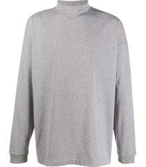 1017 alyx 9sm long sleeve turtle neck sweater - grey