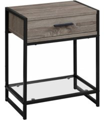 """monarch specialties accent table - 22"""" h tempered glass"""