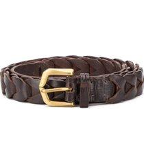 ajmone crocodile effect belt - brown