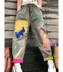 jeans con patchwork