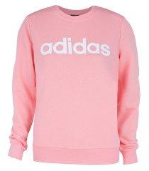 blusão adidas e lin sweat - feminino - rosa claro