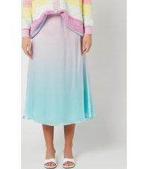 olivia rubin women's penelope skirt - pink green ombre - us 8/uk 12