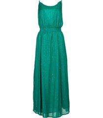 lurex pailetten jurk lauriana  groen