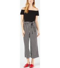 maison jules off-the-shoulder jumpsuit, created for macy's