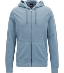 boss men's slim-fit full-zip cotton hoodie