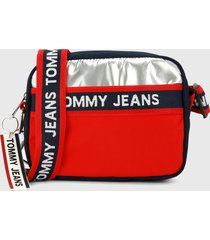 bolso azul-rojo-plateado tommy jeans