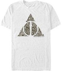 fifth sun harry potter men's deathly hallows text symbol short sleeve t-shirt