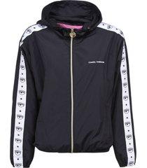 chiara ferragni logomania rain jacket